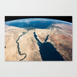 The Nile and the Sinai, to Israel and beyond. One sweeping glance of human history Canvas Print