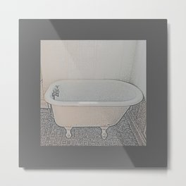 Old-Time Bathtub Metal Print
