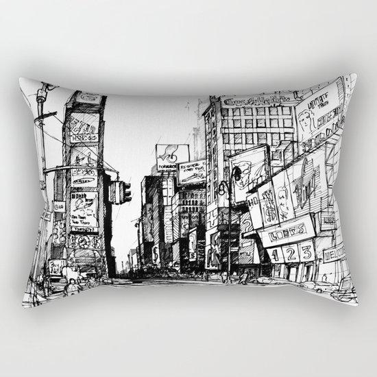 NYC Times Square Rectangular Pillow