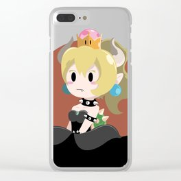 Bowser Princess (blond ver.) Clear iPhone Case