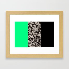 Leopard National Flag XIII Framed Art Print