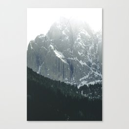Scenic Mountains and Forest Canvas Print