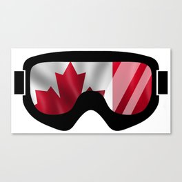 Canadian Goggles | Goggle Art Design | DopeyArt Canvas Print