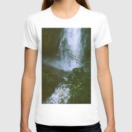 Waterfalls. Flowers. Nature. T-shirt