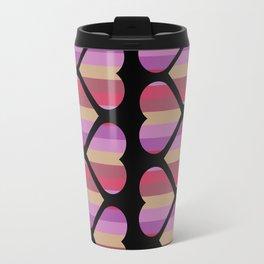 Colorful Hearts Travel Mug