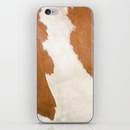 Brown Cowhide v3 iPhone Skin