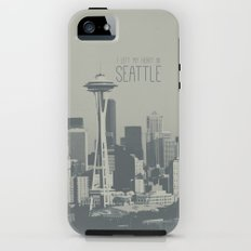 I LEFT MY HEART IN SEATTLE iPhone (5, 5s) Tough Case