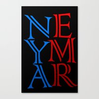neymar Canvas Prints featuring Neymar by Sport_Designs