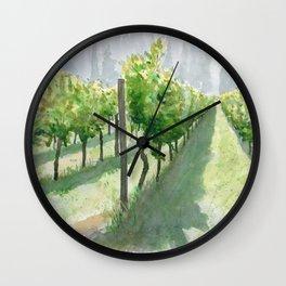 Vineyard Sun Wall Clock