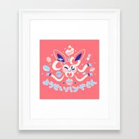 """sylveon Framed Art Prints featuring """"Sweet"""" Fairy Bakery by Miski"""