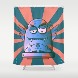 Fault 45 02 (its not his fault) Shower Curtain