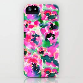 Abstract Flora Green iPhone Case