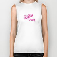 jeep Biker Tanks featuring VINTAGE BARBIE JEEP by CIGARETTES & CYANIDE