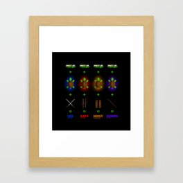 Ninja Turtle Recipe Framed Art Print
