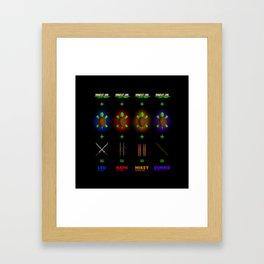 Ninja Turtle Recipe Framed Art Print