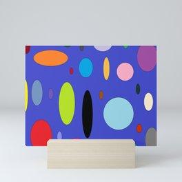 Circular Colors Mini Art Print