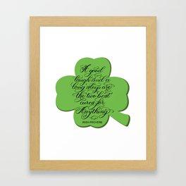 St. Patrick's Day Shamrock Irish Proverb Framed Art Print