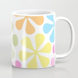 Abstract Flowers Bright Color Mix Coffee Mug