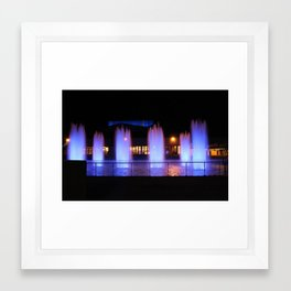The Ithaca College Fountains Framed Art Print