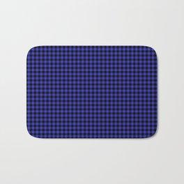 Mini Cornflower Blue and Black Rustic Cowboy Cabin Buffalo Check Bath Mat
