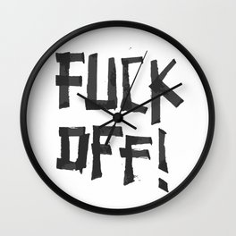 Fuck off Wall Clock