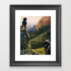 boy who cried wolf Framed Art Print