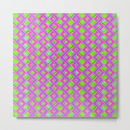 043 Abstract purple, pink and green art for home decoration Metal Print