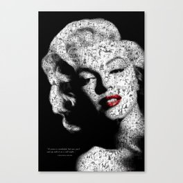 Tribute to Marilyn Canvas Print