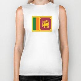 Flag of sri Lanka -ceylon,India, Asia,Sinhalese, Tamil,Pali,Buddhist,hindouist,Colombo,Moratuwa,tea Biker Tank