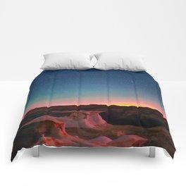 Bisti Badlands Hoodoos Under New Mexico Stary Night Comforters