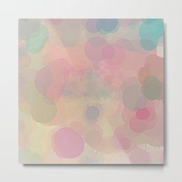 Pastel Palette Bubble Abstract Metal Print