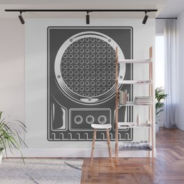 Vintage music concert audio loudspeaker in monochrome style illustration Wall Mural