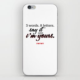 3 words. 8 letters. | gossip girl quote  iPhone Skin