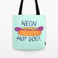 NEON HOT DOG Tote Bag