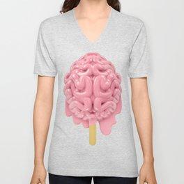 Popsicle brain melting Unisex V-Neck
