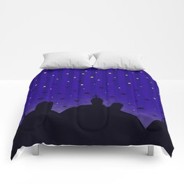 Starlit Graveyard Comforters