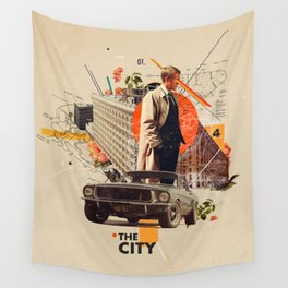 The City 1968 Wall Tapestry