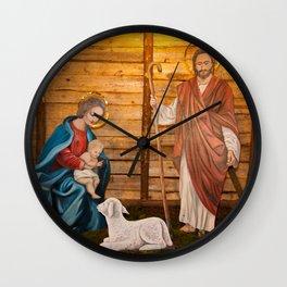 Nativity scene Wall Clock