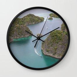 Raja Ampat Cotage Landscape Indonesia Wall Clock