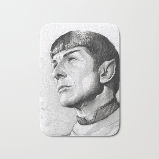 Star Trek Spock Portrait Bath Mat