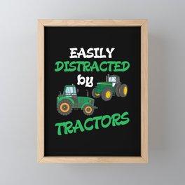 Kids Tractor lover Farming Son Nephew Farmer Framed Mini Art Print