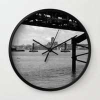 liverpool Wall Clocks featuring Liverpool - An Alternative View by Caroline Benzies Photography