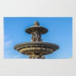 Fountain on the Place de la Concorde - Paris, France Rug