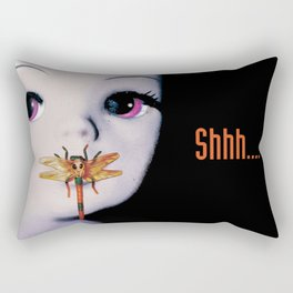 Silence of the lambs - film poster spoof Rectangular Pillow