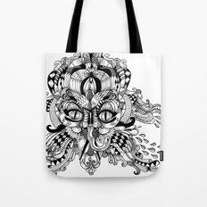 Mask Face Tote Bag