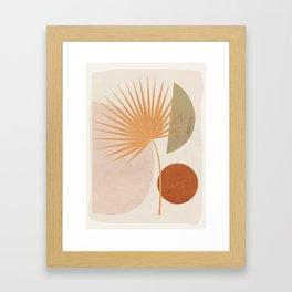 Tropical Leaf- Abstract Art 49a Framed Art Print