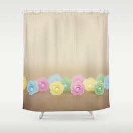 Plastic Flowers 2 Shower Curtain