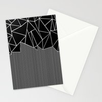 Ab Lines Black Stationery Cards