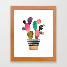 Happy Cactus Framed Art Print