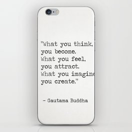 Buddha quote 5 iPhone Skin